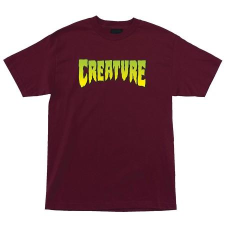 Creature Logo S  T-Shirt Burgundy