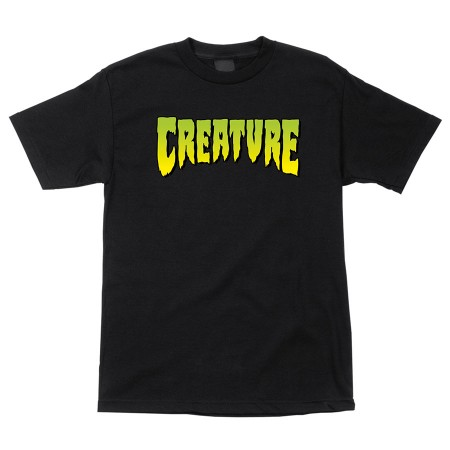 Creature Logo S/S Regular T-Shirt Black XL Youth