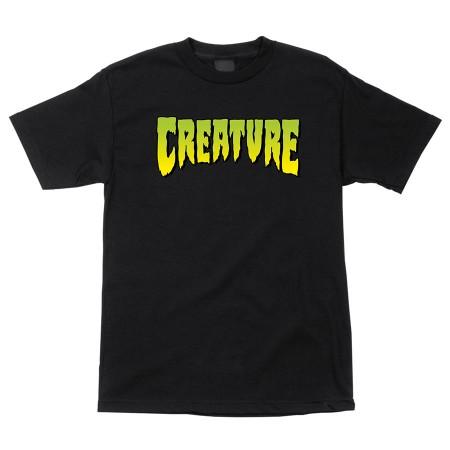 Creature Logo S/S Regular T-Shirt Black Sm Youth