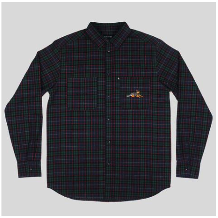 Pass-Port Shirt M Green Flannel