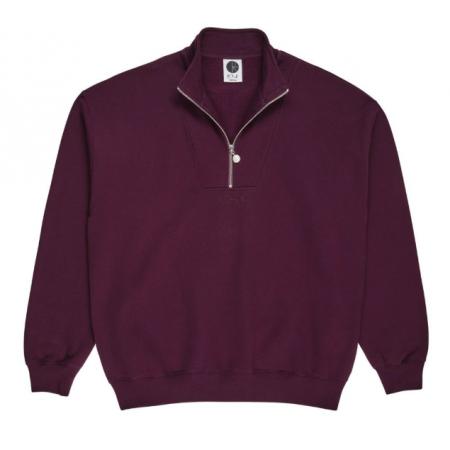POLAR Zip Neck Sweatshirt (Prune)  L