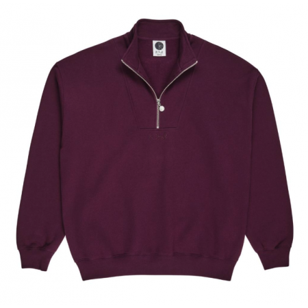 POLAR Zip Neck Sweatshirt (Prune)  XS