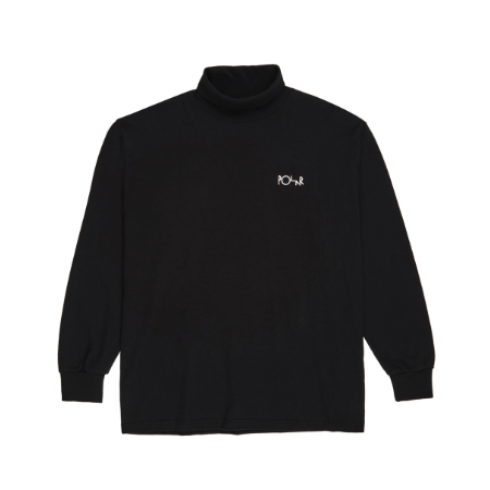 POL-F19 Script Turtleneck (Black)  XS