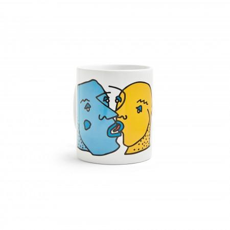 Polar SS20 Kissing Faces Mug - White - O/S