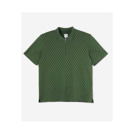 Polar F2 Zip Pique Shirt ( Green)  XL