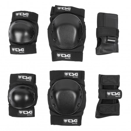 TSG Pads basic-set black M