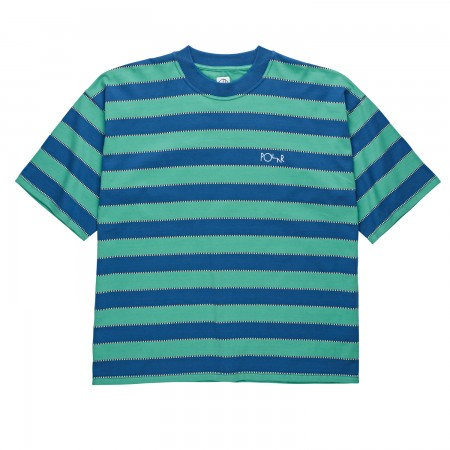 PSC SPRING 2019CHECKERED SURF TEEBLUE PEPMINT L